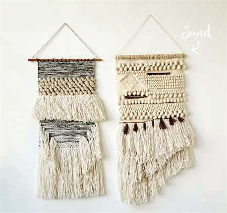 Hand-Woven Wall Hanging in Sand: Featured Product Image