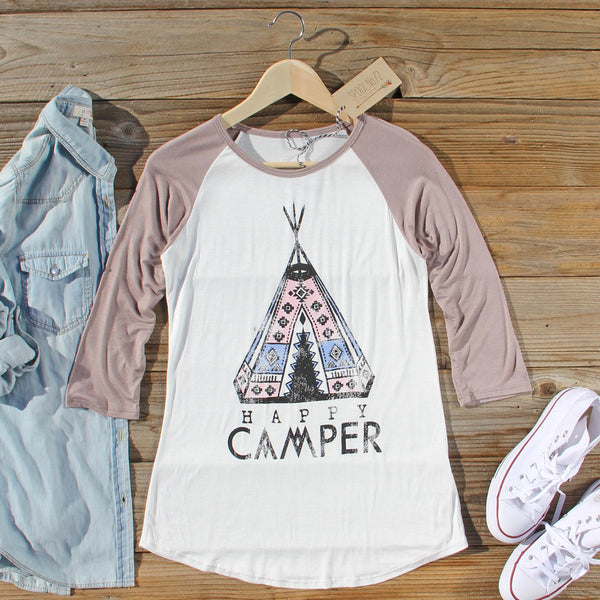 Happy Camper Baseball Tee: Featured Product Image