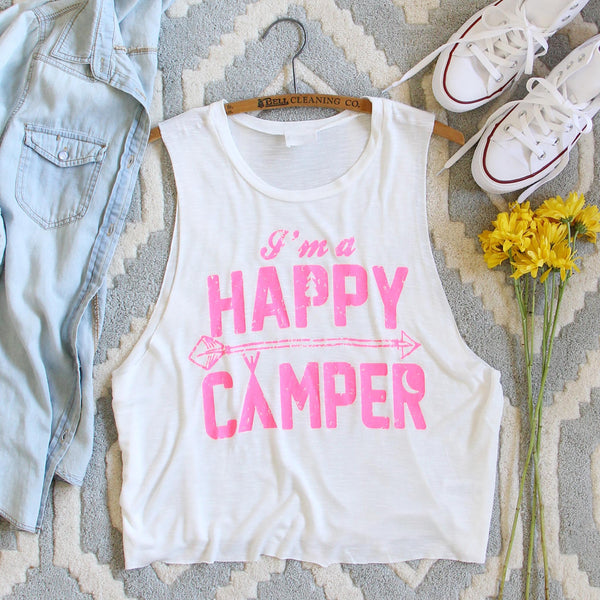 Happy Camper Tank in Pink: Featured Product Image