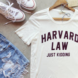 Harvard Law Tee: Alternate View #2