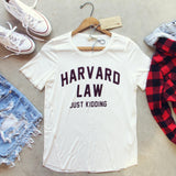 Harvard Law Tee: Alternate View #1