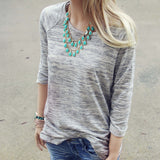 Heathered Cozy Tee: Alternate View #3