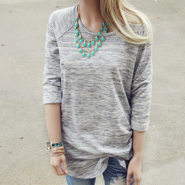 Heathered Cozy Tee: Featured Product Image