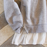 Heathered Fleece Hoodie: Alternate View #3