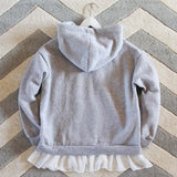 Heathered Fleece Hoodie: Alternate View #4