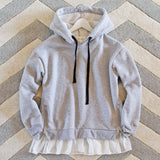Heathered Fleece Hoodie: Alternate View #2