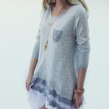 Heathered Lace Sweater: Alternate View #2