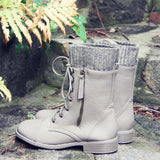 Heirloom Sweater Boots in Taupe: Alternate View #3