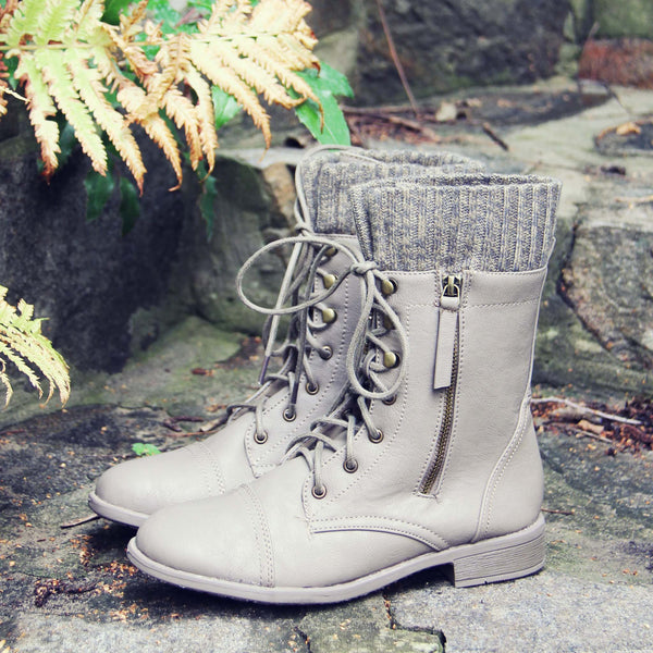 Heirloom Sweater Boots in Taupe: Featured Product Image