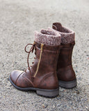 Heirloom Sweater Boots in Chestnut: Alternate View #3