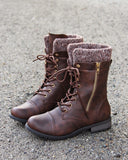 Heirloom Sweater Boots in Chestnut: Alternate View #1
