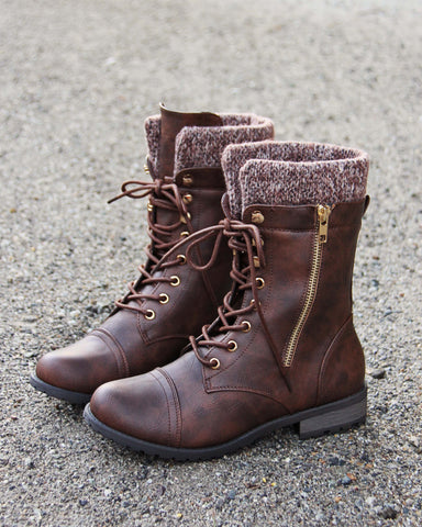 Heirloom Sweater Boots in Chestnut