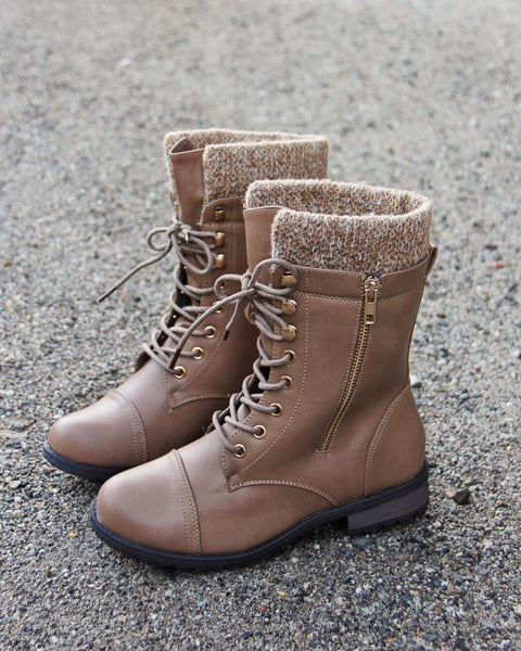 Heirloom Sweater Boots in Cedar: Featured Product Image