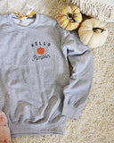 Hello Pumpkin Sweatshirt in Gray: Alternate View #3