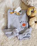 Hello Pumpkin Sweatshirt in Gray: Alternate View #1