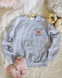 Hello Pumpkin Sweatshirt in Gray: Alternate View #2