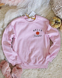 Hello Pumpkin Sweatshirt in Pink: Alternate View #2