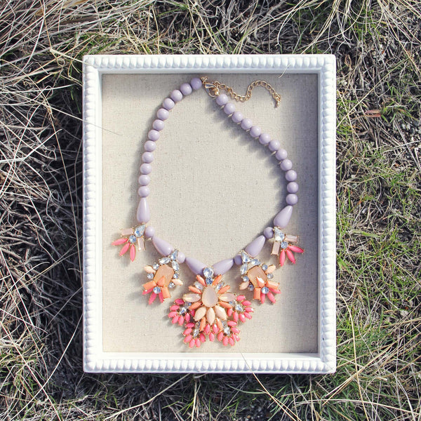 Hive & Honey Necklace in Lilac: Featured Product Image
