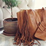 Honey & Bourbon Fringe Tote: Alternate View #2