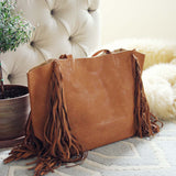 Honey & Bourbon Fringe Tote: Alternate View #3