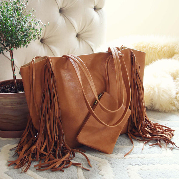 Honey & Bourbon Fringe Tote: Featured Product Image