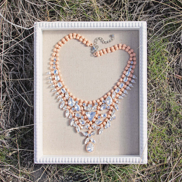Hive & Honey Necklace in Peach: Featured Product Image
