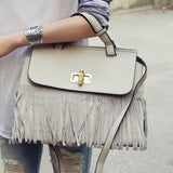 Honey Hush Fringe Tote in Cream: Alternate View #1