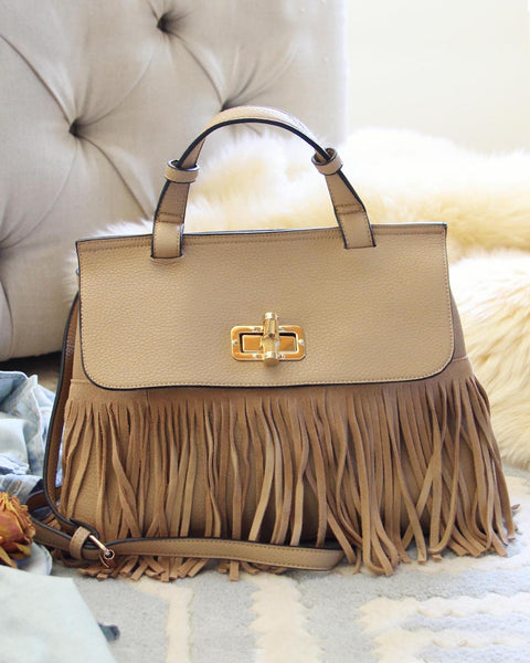 Honey Hush Fringe Tote: Featured Product Image