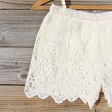 Honey Lace Shorts: Alternate View #2