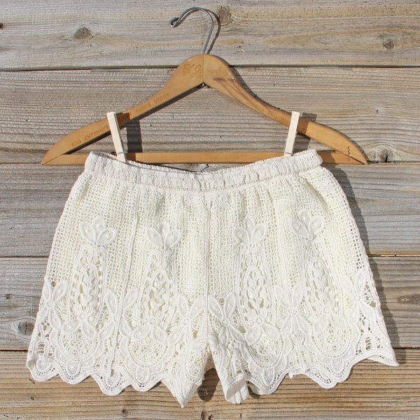 Honey Lace Shorts: Featured Product Image