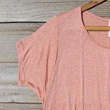 Honey & Lace Cozy Tee in Pink: Alternate View #2