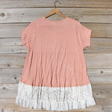 Honey & Lace Cozy Tee in Pink: Alternate View #4
