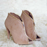 Honey Suede Heels: Alternate View #2