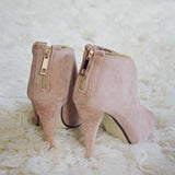Honey Suede Heels: Alternate View #3