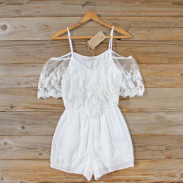 Honeyed Lace Romper: Featured Product Image