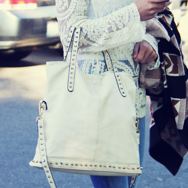 Honeysett Tote in Cream: Featured Product Image