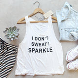 I Don't Sweat I Sparkle Tank: Alternate View #1