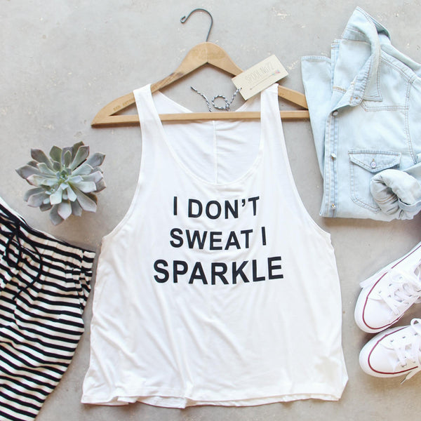 I Don't Sweat I Sparkle Tank: Featured Product Image
