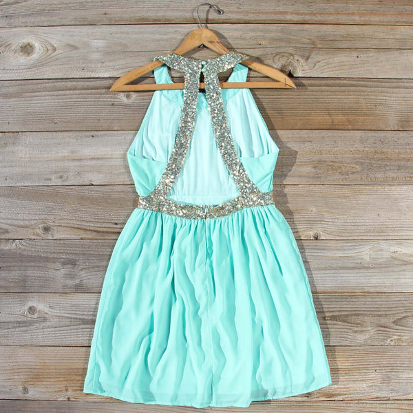 Ice Shadow Dress in Mint: Featured Product Image
