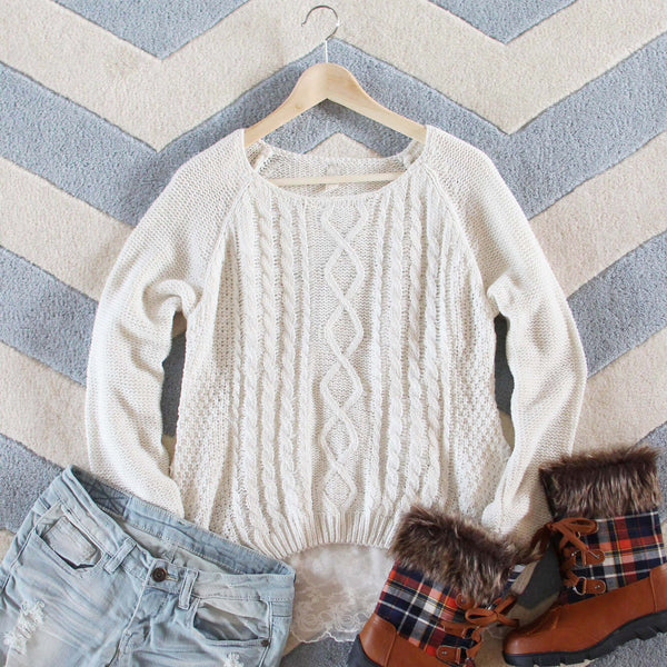 Iced Lace Sweater: Featured Product Image