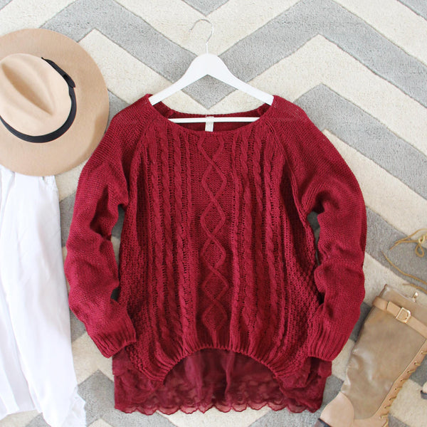 Iced Lace Sweater in Sweetheart: Featured Product Image