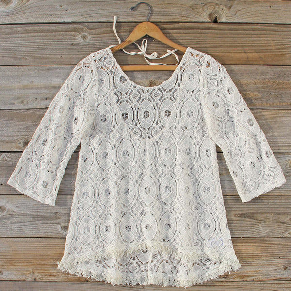 Iced Meadow Lace Tunic: Featured Product Image