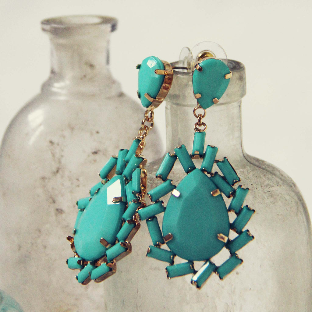 ati shop product large earrings mexico sterling turquoise teardrop