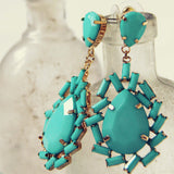 Iced Turquoise Earrings: Alternate View #2