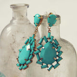 Iced Turquoise Earrings: Alternate View #1