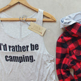 I'd Rather Be Camping Tank: Alternate View #2