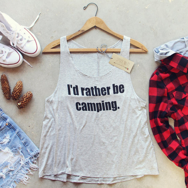 I'd Rather Be Camping Tank: Featured Product Image