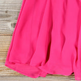 Idle Wind Dress in Fuchsia: Alternate View #3