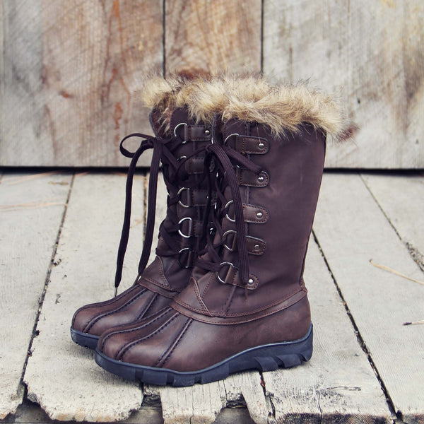 Igloo Snow Boots in Brown: Featured Product Image