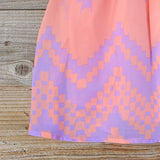Indian Watercolor Dress in Lilac: Alternate View #4